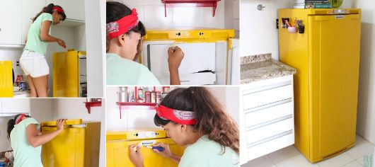 geladeira colorida pintada passo a passo