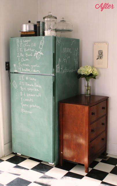 geladeira colorida pintada tinta giz cardápio