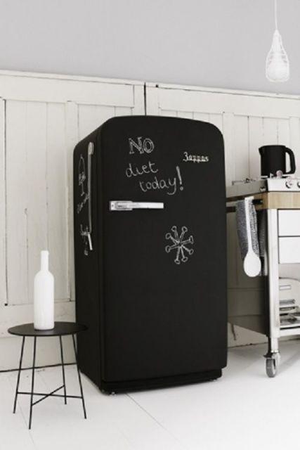 geladeira colorida pintada tinta giz
