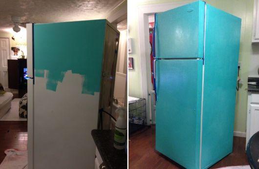 geladeira colorida pintada