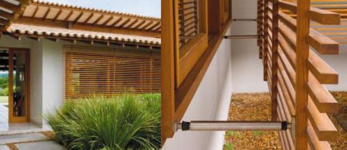 grade de madeira janela