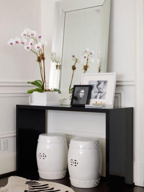 Hall de entrada pequeno decorado dicas e 40 projetos lindos - Entraditas pequenas ikea ...