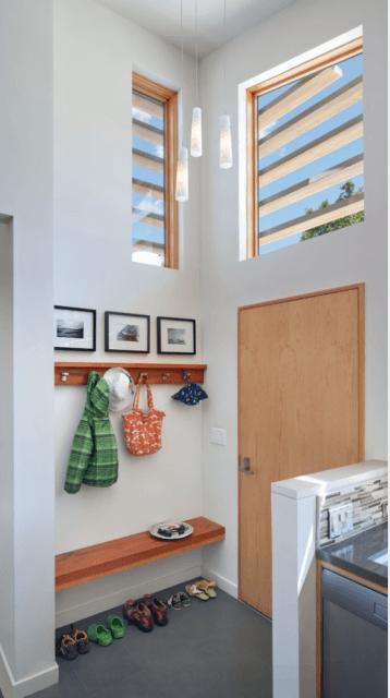 hall de entrada pequeno decorado em casa