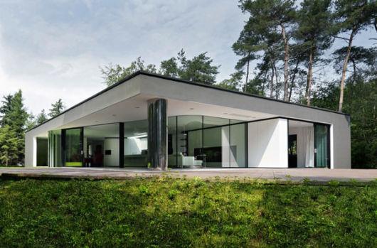 ideia casa minimalista no campo