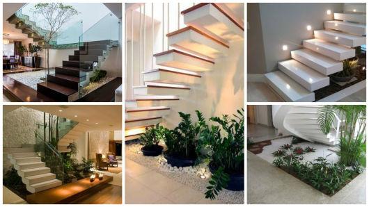 escada jardim embaixo:Jardim de inverno: 86 ideias incríveis!