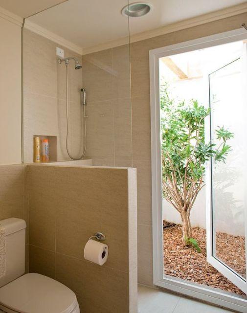 Jardim de Inverno 86 ideias e Inspirações incríveis! -> Banheiro Pequeno Com Jardim De Inverno