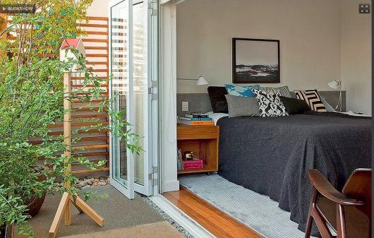 jardim de inverno em quarto de casal pequeno