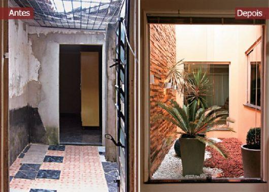 quarto jardim de inverno : quarto jardim de inverno:Antes e depois de um jardim de inverno entre dois quartos!