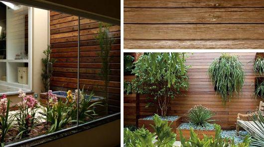 jardim de inverno no quarto revestimento madeira