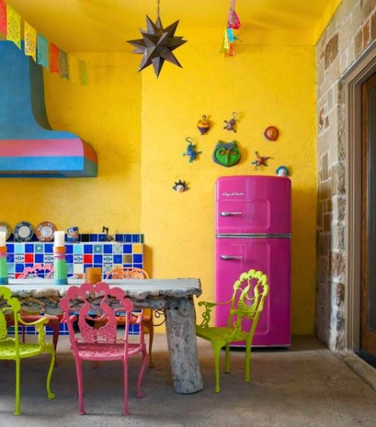 móveis coloridos antigo