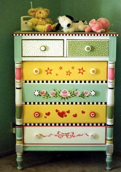 móveis coloridos campestre