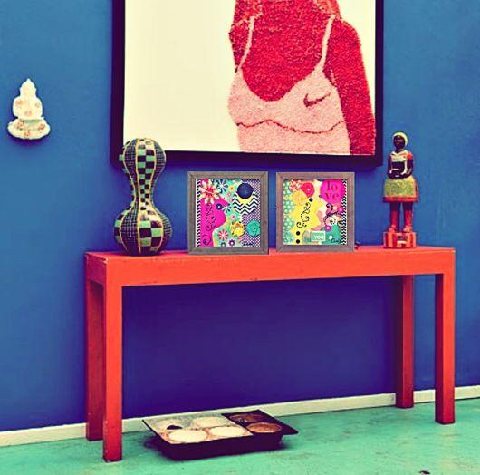 móveis coloridos mesinha