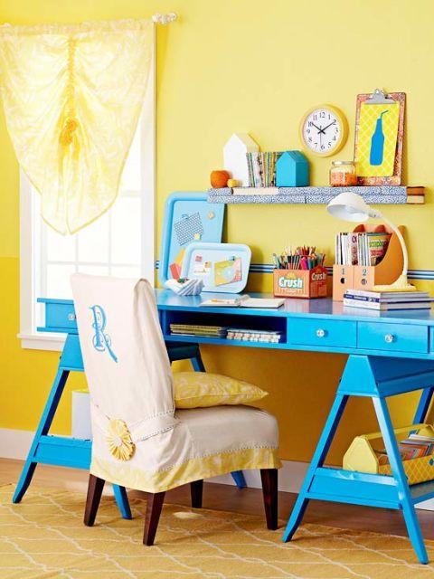móveis coloridos modernos