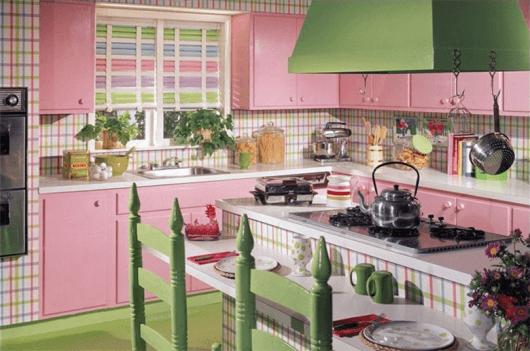 móveis coloridos para cozinhas