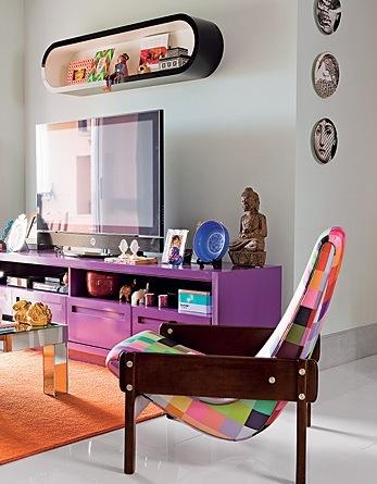 móveis coloridos poltrona