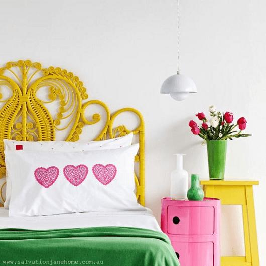 móveis coloridos provençais
