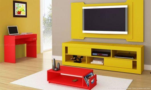 móveis coloridos sala