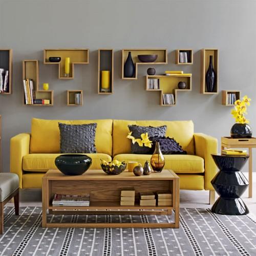 móveis coloridos sofá