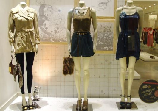Vitrine loja de roupas