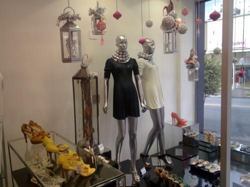 Decoração prateada loja