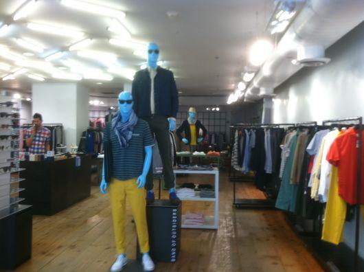 Decoração loja para homem