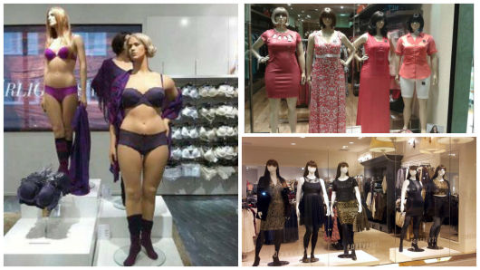 Manequins plus size