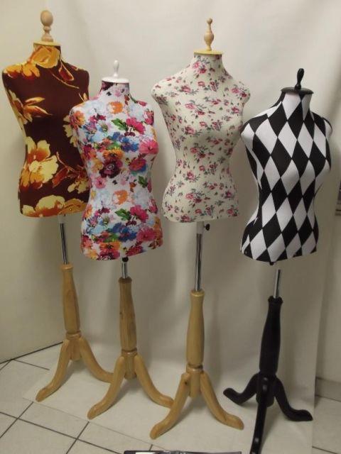 Manequins forrados de tecido
