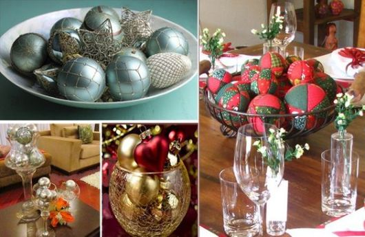 mesa de natal bolas de mesa