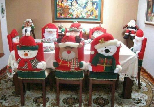 mesa de natal capas de feltro