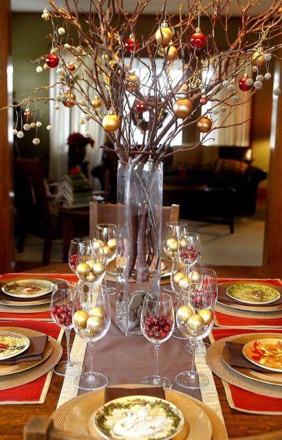 mesa de natal centro de mesa