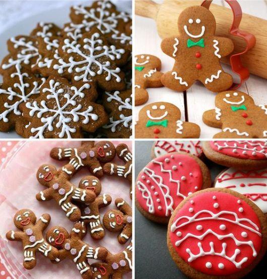 mesa de natal com biscoitos