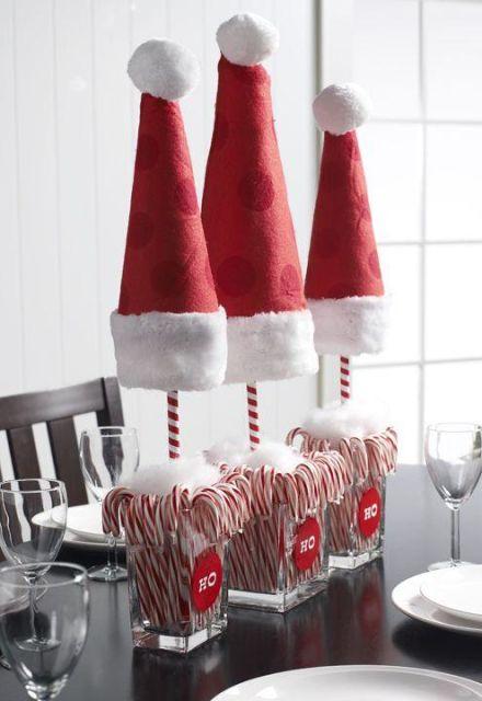 mesa de natal com doces