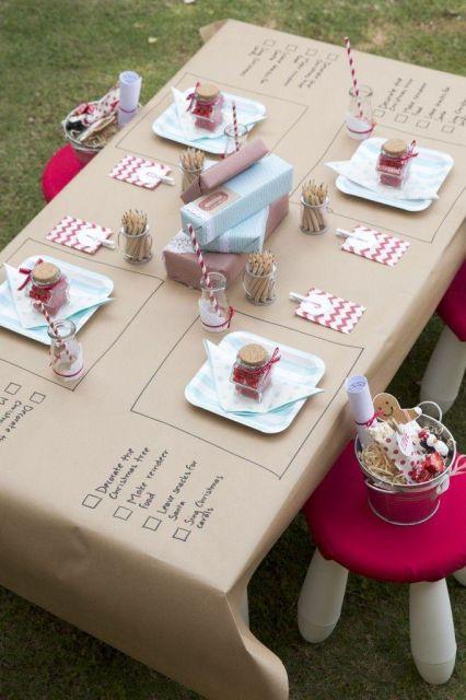 mesa de natal criativa