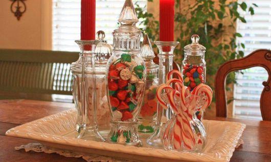 mesa de natal de doces natalinos