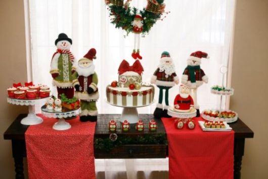 mesa de natal de doces