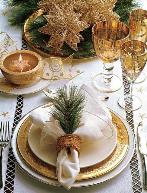 mesa de natal detalhes