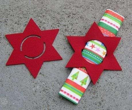 mesa de natal estrela de feltro