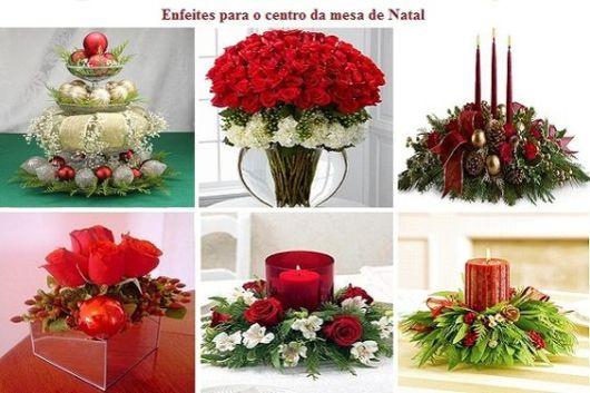 mesa de natal flores centro de mesa