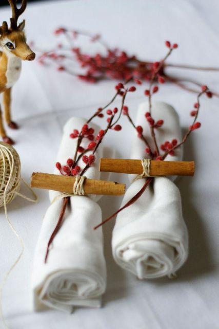 mesa de natal flores