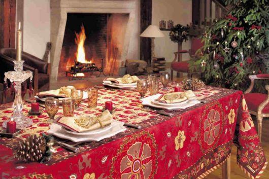 mesa de natal toalha