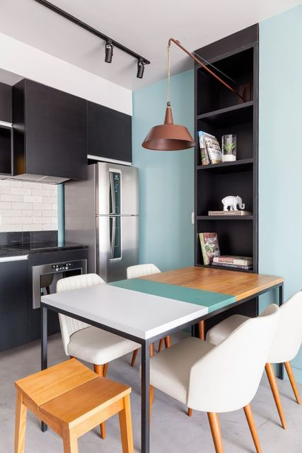 mesa de madeira moderna