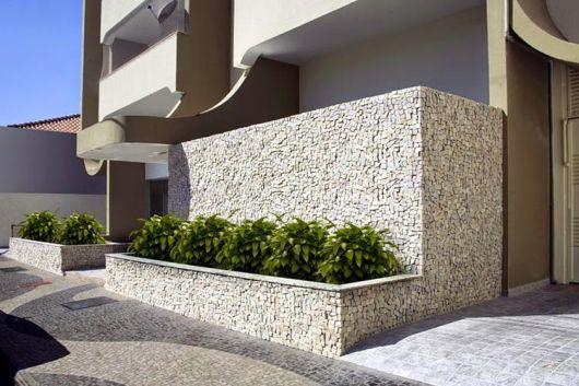 muro com canteiro