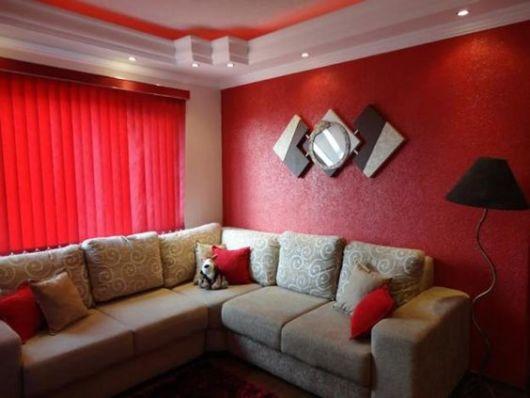 parede textura vermelha