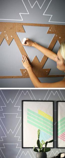 decoração geométrica parede