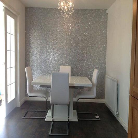 sala de jantar parede moderna