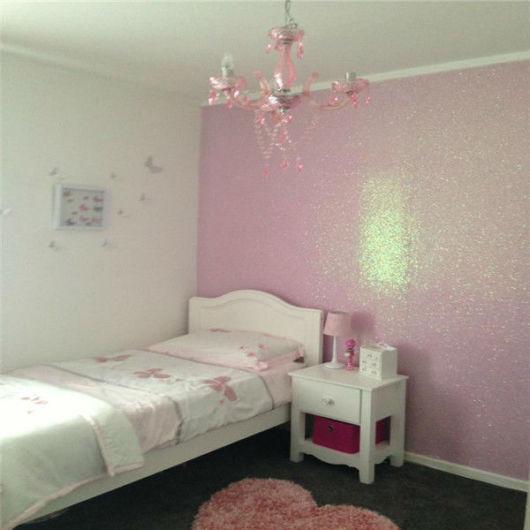 parede rosa com brilho