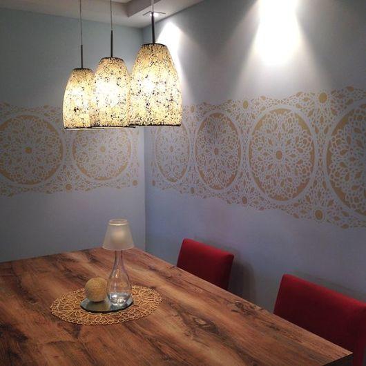 parede decorada sala de jantar