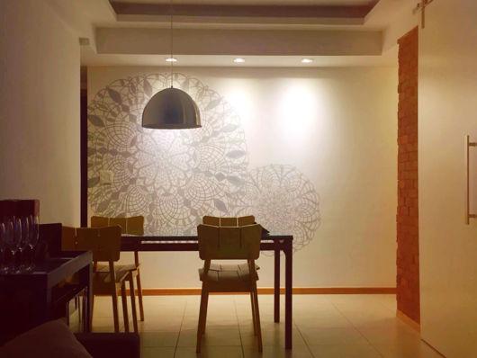 parede desenho renda
