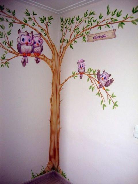 Pintura de parede como pintar ideias para fazer - Pintura infantil pared ...