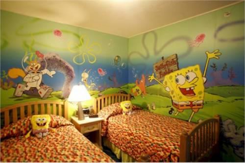 quarto decorado Bob Esponja